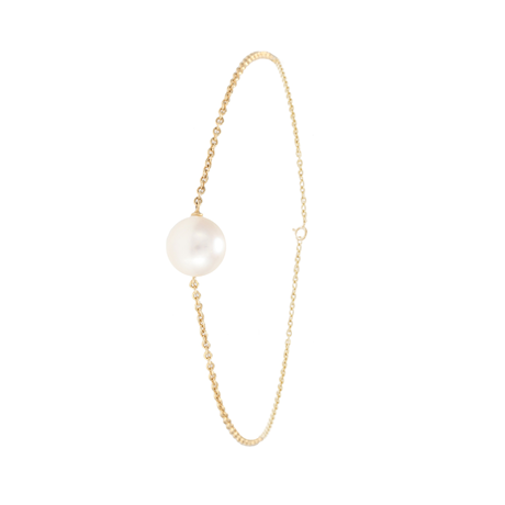 18ct Yellow Gold 8mm Freshwater Pearl Bracelet