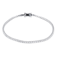 18ct White Gold 1.00ct Diamond Bracelet