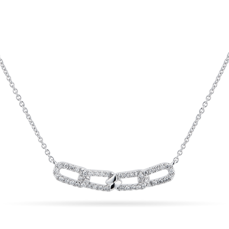 Harmony 18ct White Gold 0.20cttw Diamond Necklace