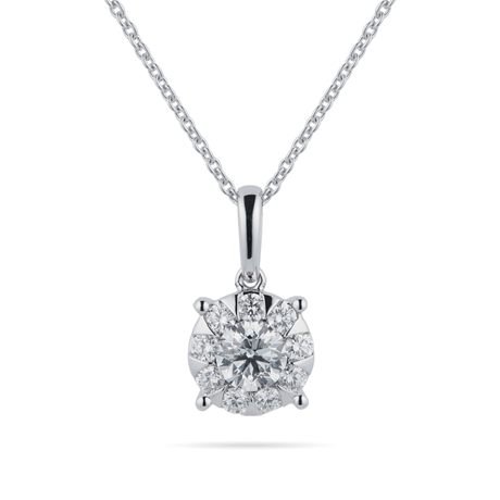 Masquerade 18ct White Gold 0.68cttw Diamond Pendant