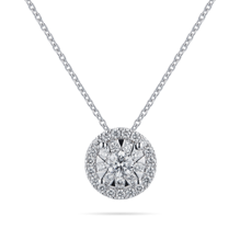 Masquerade 18ct White Gold 0.49cttw Diamond Pendant
