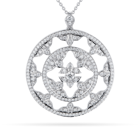 Empress 18ct White Gold 1.20cttw Diamond Pendant
