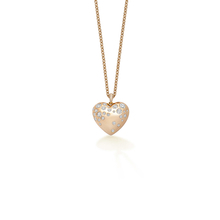 Fortune 18ct Rose Gold 0.18cttw Diamond Heart Pendant