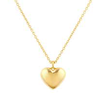 Fortune 18ct Yellow Gold Plain Heart Pendant