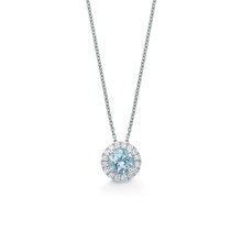 Carrington 18ct White Gold 0.90ct Aquamarine and 0.20cttw Diamond Pendant