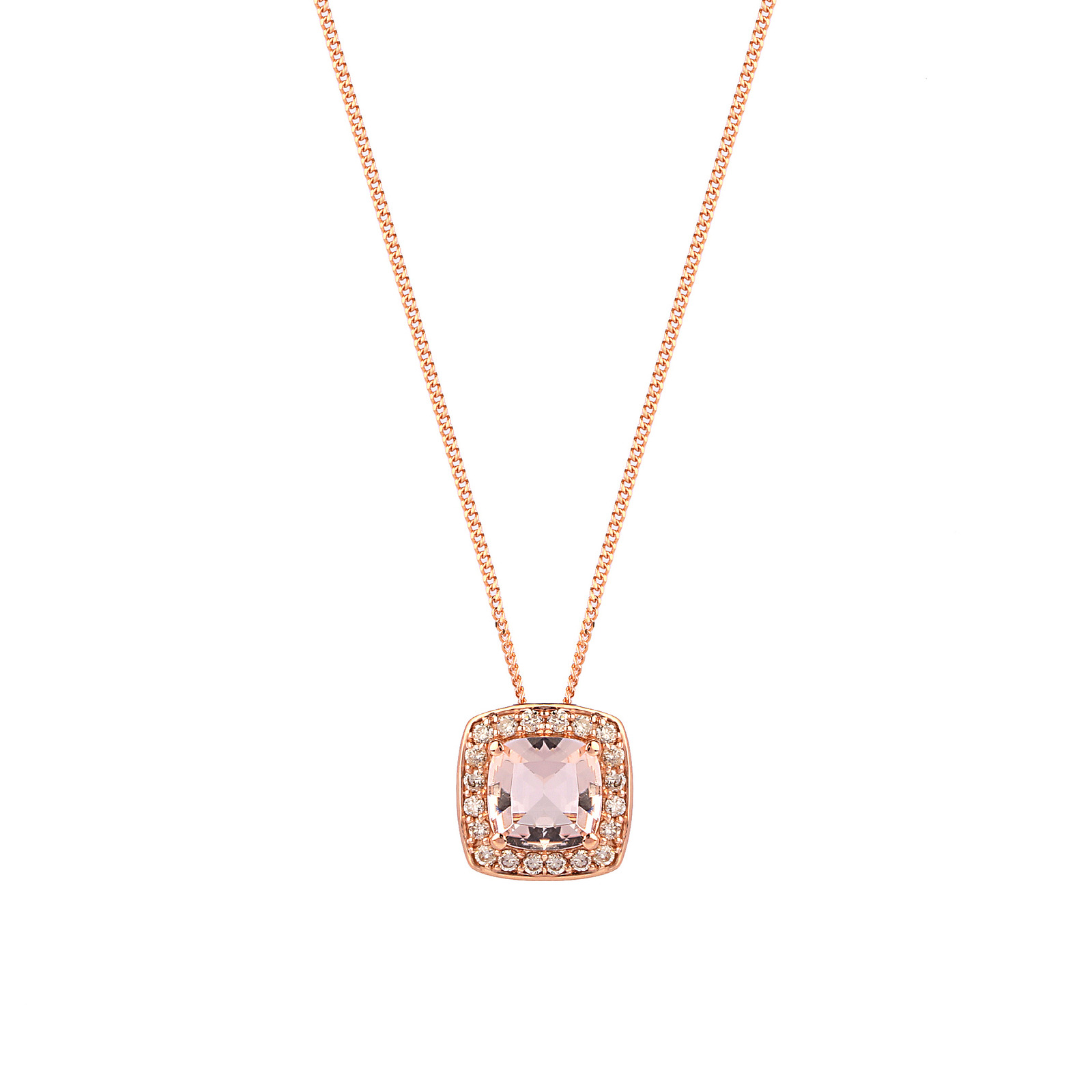 pear free comes inverted inches with gold necklace morganite diamonds shaped halo aaa rose p diamond chain pendant angara rg