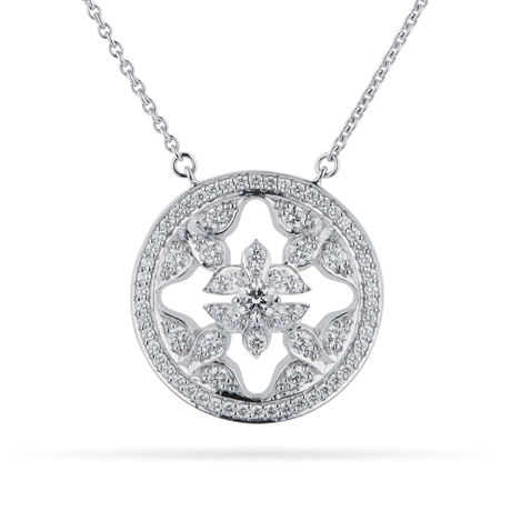 Mappin & Webb Empress 18ct White Gold 0.65cttw Diamond Pendant