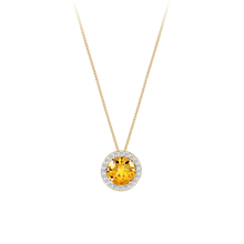 Carrington 18ct Yellow Gold 1.60ct Citrine and 0.20cttw Diamond Pendant