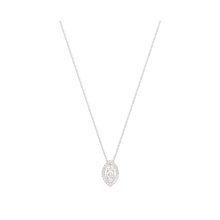 18ct White Gold 0.33ct Diamond Marquise Pendant