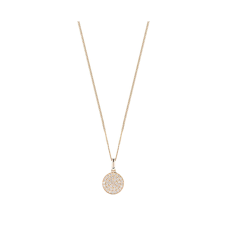 9ct Yellow Gold 0.25ct Pave Pendant