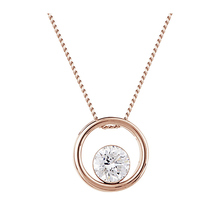 9ct Rose Gold 0.30ct Floating Diamond Pendant