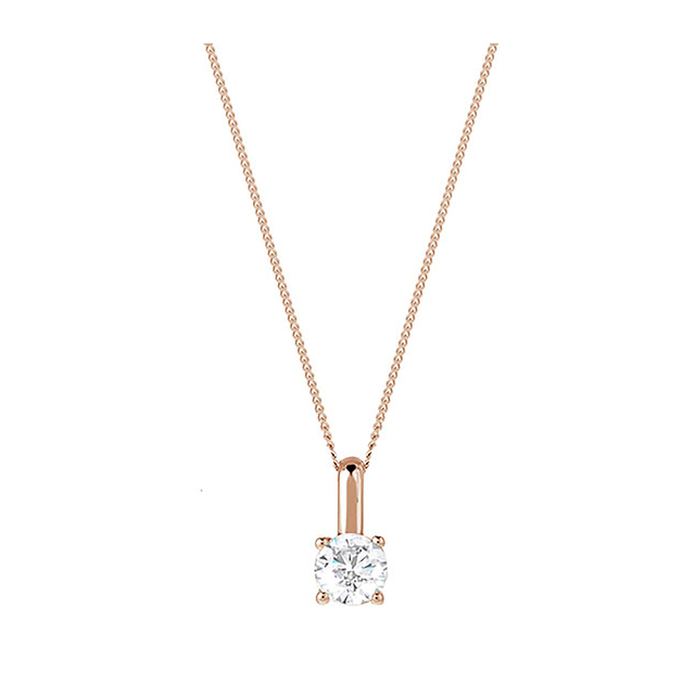 18ct Rose Gold 0.50ct Brilliant Cut Pendant