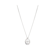9ct White Gold 0.15ct Diamond Pear Pendant