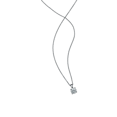Libretto 18ct White Gold 0.40ct Diamond Pendant