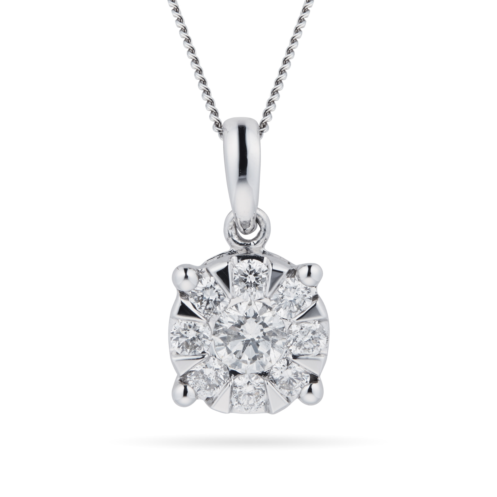 necklace pendant simulated product s jewelers round diamond friedman solitaire