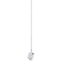 18ct White Gold 1.00cttw Three Stone Pendant