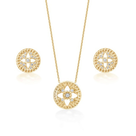 Empress 18ct Yellow Gold 0.18cttw Diamond Set