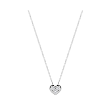 9ct White Gold 0.16ct Heart Pendant Earring Set