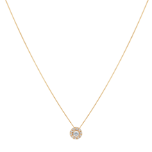9ct Yellow Gold 0.20cttw Halo Pendant