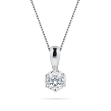 For Her - 9ct White Gold 0.20cttw Bezel Set Illusion Pendant - 12143050