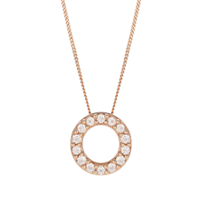 9ct Rose Gold Morganite Circle Pendant