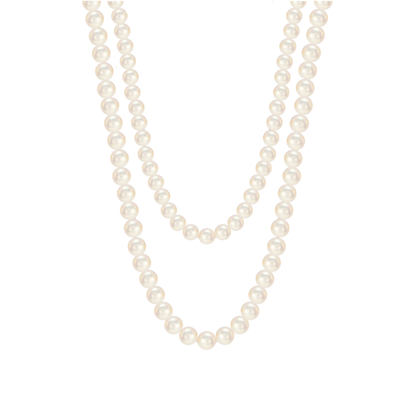 Mappin & Webb 18ct White Gold Freshwater Pearl 32 Inch Necklace