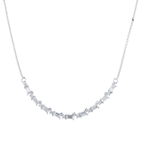 Renee 18ct White Gold 1.31cttw Diamond Large Line Necklace