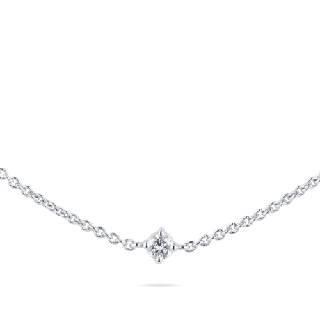 Mappin & Webb 18ct White Gold 0.50cttw Diamond Scatter Necklace