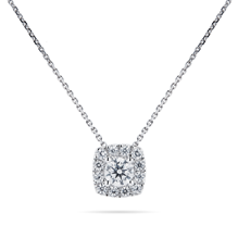 For Her - 9ct White Gold 0.40cttw Diamond Multi Stone Pendant - 12143200