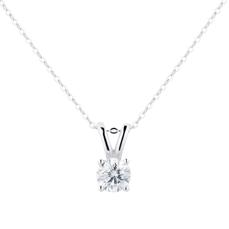 9ct White Gold 0.25ct Brilliant Cut Pendant