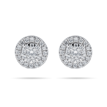Masquerade 18ct White Gold 0.59cttw Diamond Stud Earrings