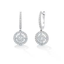 Masquerade 18ct White Gold 1.28cttw Diamond Drop Earrings