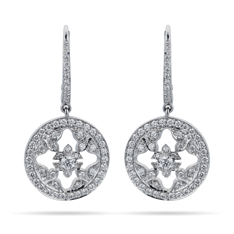 Empress 18ct White Gold 0.88cttw Diamond Carriage Earrings