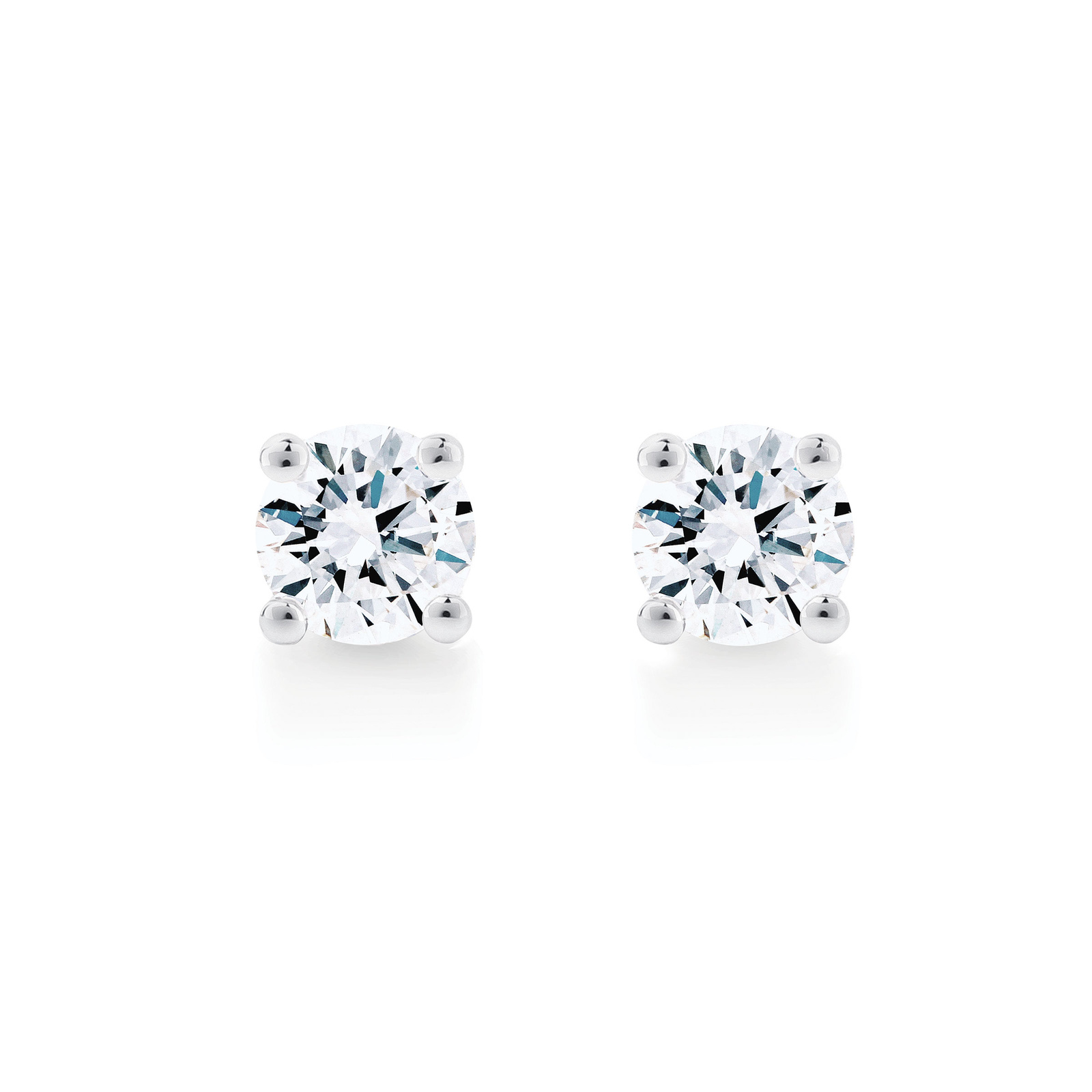 Libretto 18ct White Gold 0 80ct Diamond Stud Earrings