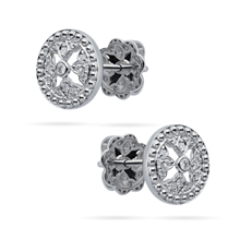 Empress 18ct White Gold 0.10cttw Diamond Stud Earrings
