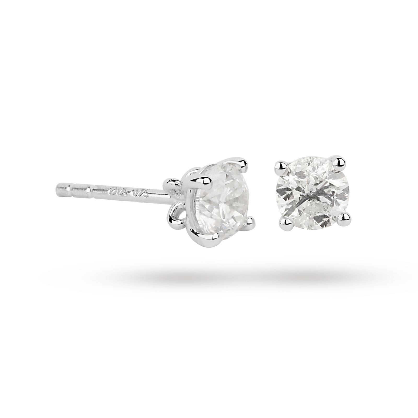 9ct White Gold 0.15ct Brilliant Cut Stud Earrings
