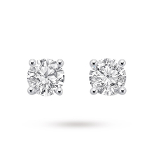 9ct White Gold 0 50ct Brilliant Cut Stud Earrings