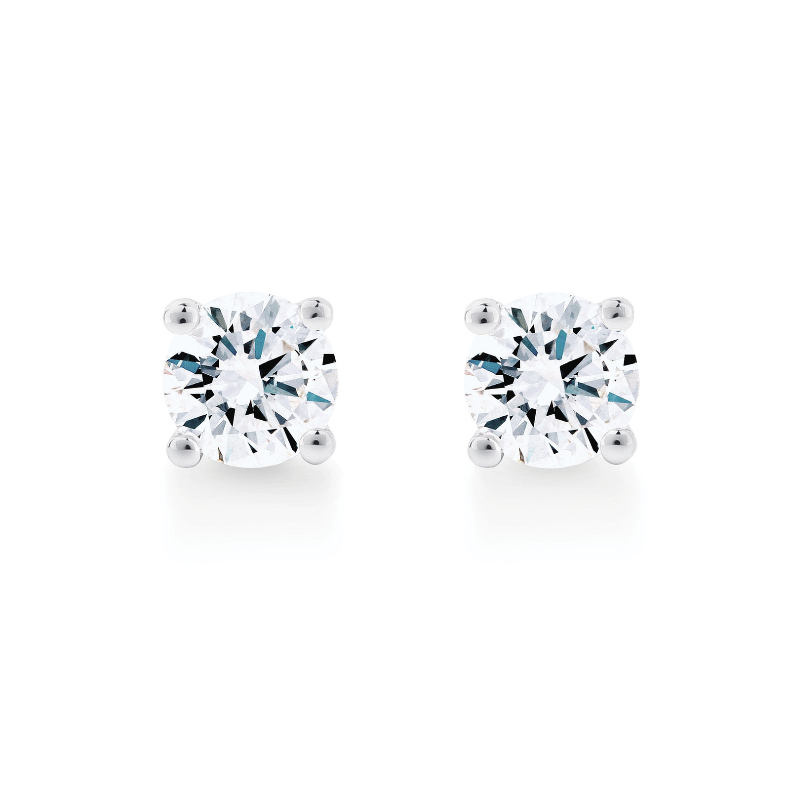 Libretto 18ct White Gold 1.00ct Diamond Stud Earrings