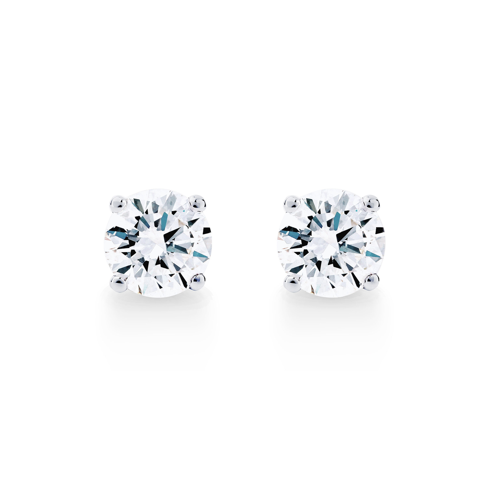 Libretto 18ct White Gold 2 00ct Diamond Stud Earrings