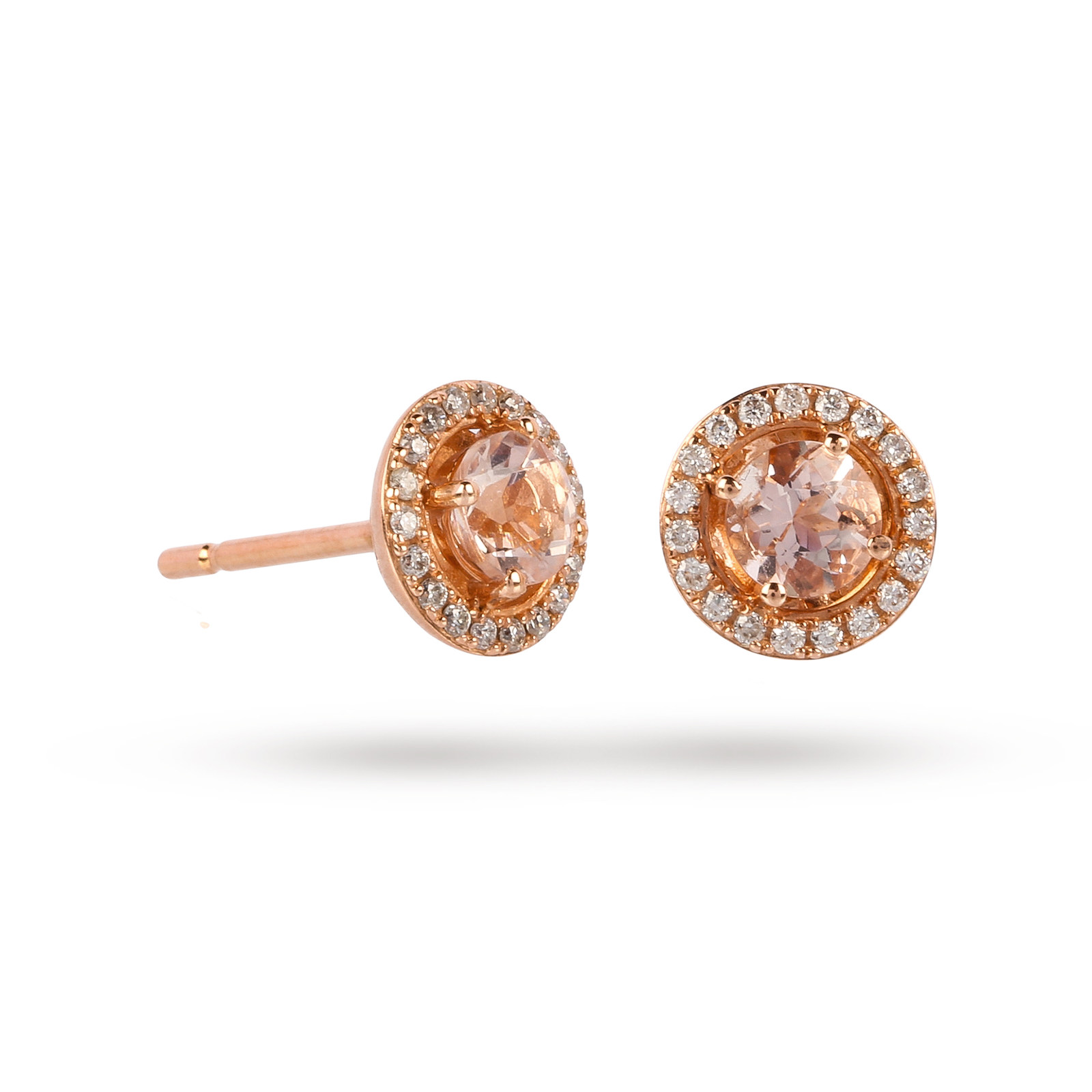gold earring keir jewellery stud morganite products fine rose