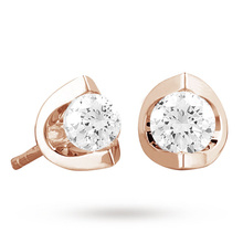 18ct Rose Gold 0.40ct Tension Set Diamond Earrings