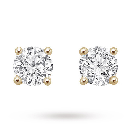18ct Yellow Gold 0.75ct Brilliant Cut Stud Earrings