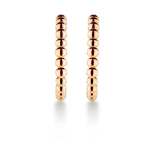 Sonnet 18ct Rose Gold Single Row Hoop Earrings