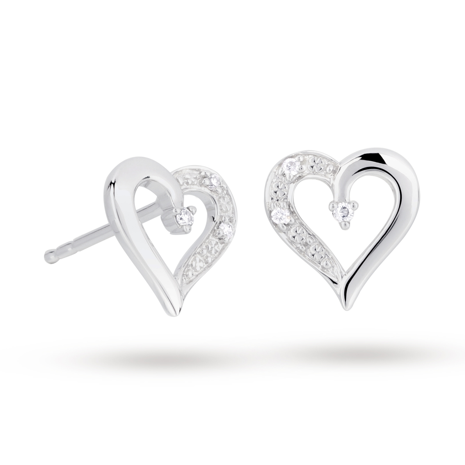 earrings open sterling jewelry bling silver stud heart