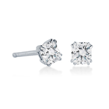 Platinum 1.00 Carat Total Weight Diamond Stud Earrings