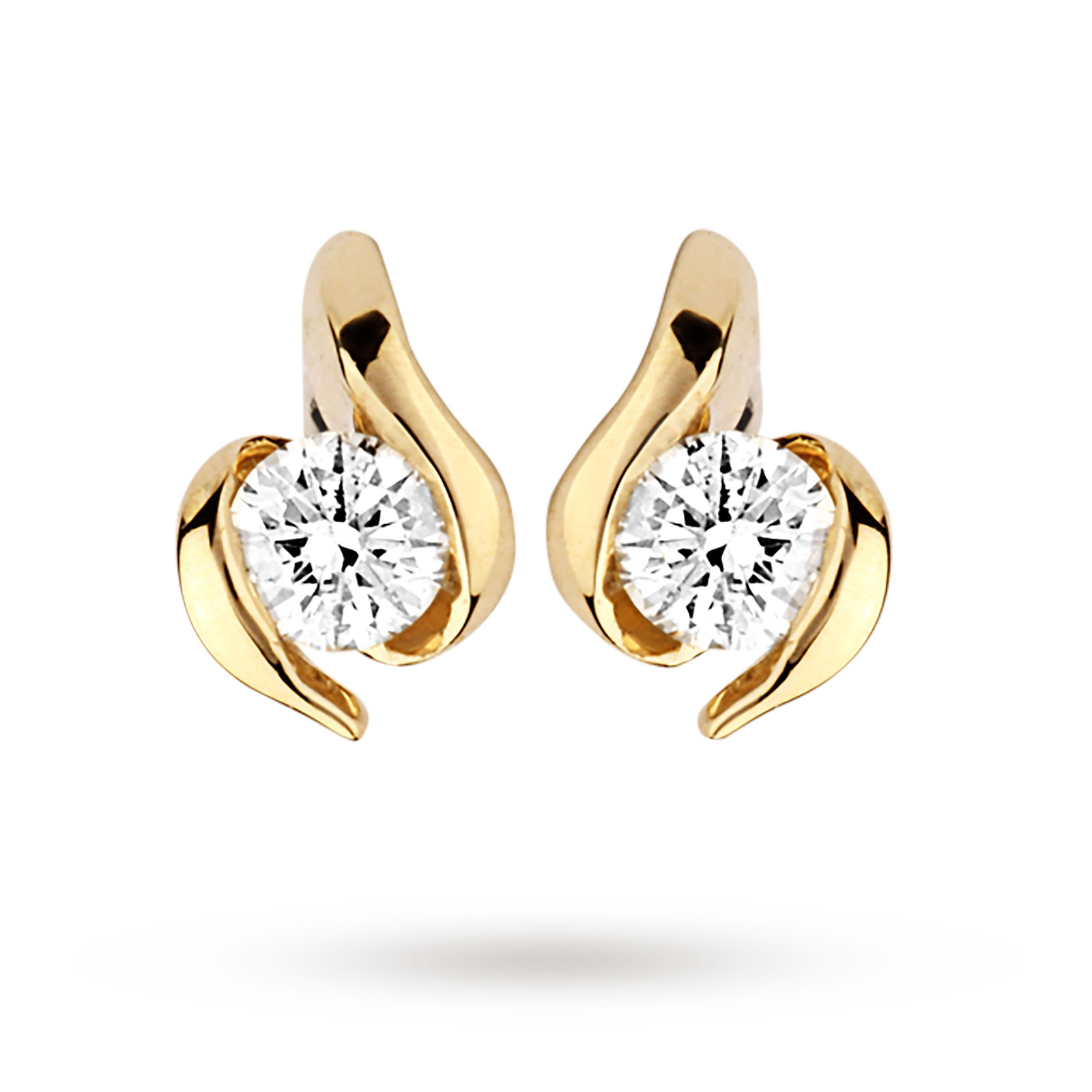 9ct Yellow Gold 0.10ct Wrapped In Love Diamond Earrings