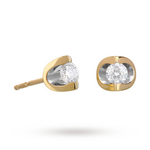 9ct Yellow Gold 0.25ct Tension Set Diamond Earrings