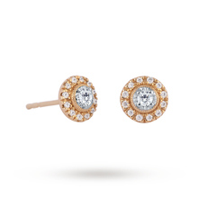 9ct Yellow Gold 0.20ct Diamond Halo Stud Earrings
