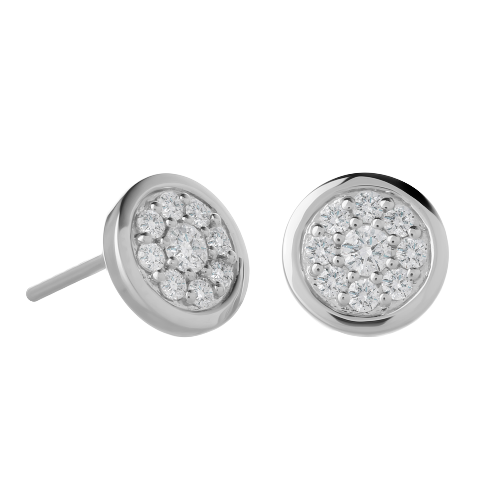 9ct White Gold 0.30ct Diamond Round Earrings