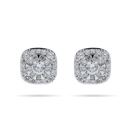 Masquerade 18ct White Gold 0.61cttw Diamond Stud Earrings